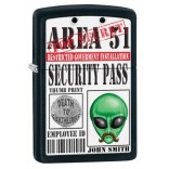 Zippo Area 51 Security Pass