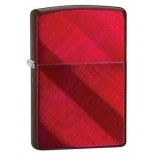 Zippo Diagonal Weave Candy Apple Red